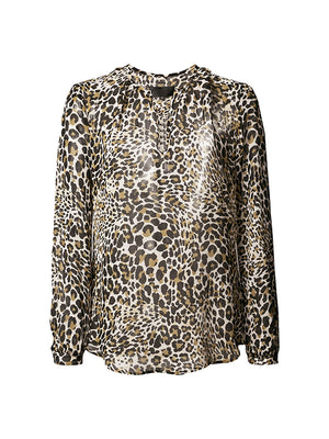 OLIVIA TOP IN WHITE LEOPARD