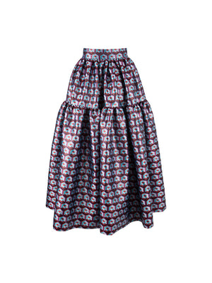 Oscar Skirt Cubi Rossi in Brocade