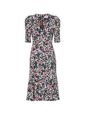 Ottavia Dress Meadow Ponte Jersey