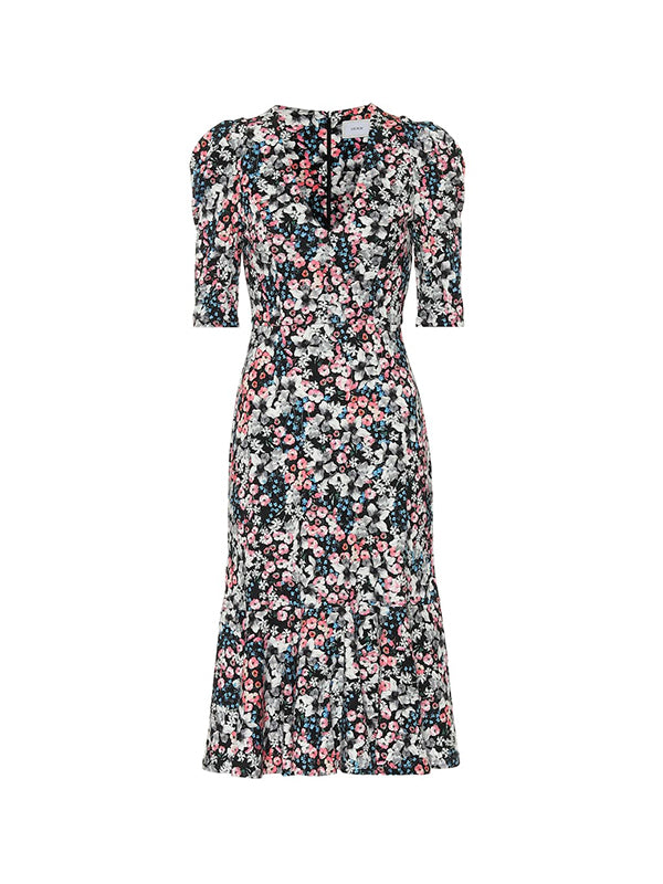 Erdem Ottavia Dress Meadow Ponte Jersey