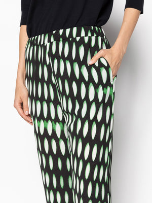 Dries Van Noten Palmira 2010 Pants in Black/Green