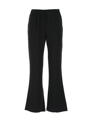 Crepe Elasticated Waist Pant in Black