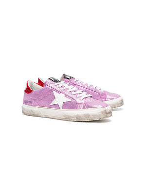 PINK GLITTER SUEDE MAY SNEAKERS