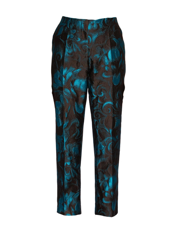 Dries Van Noten Paola Pant in Turqoise