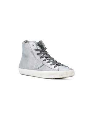 PARIS HIGH TOP SNEAKER IN ARGENT