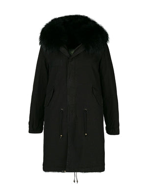 Parka Coat in Black
