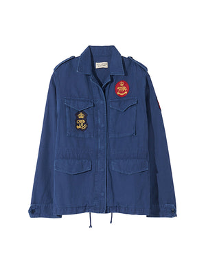 Patch Army Jacket in French Blue