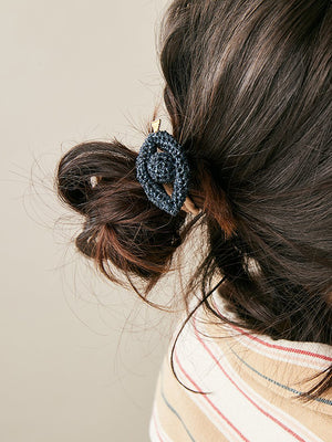 Lucy Folk Phoenician Eyes Hair Tie - Midnight
