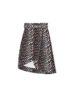 Leopard Denin Skirt