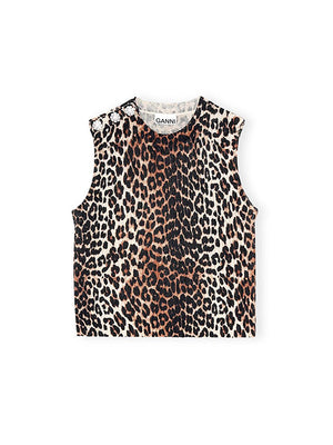 Knitted Vest in Leopard