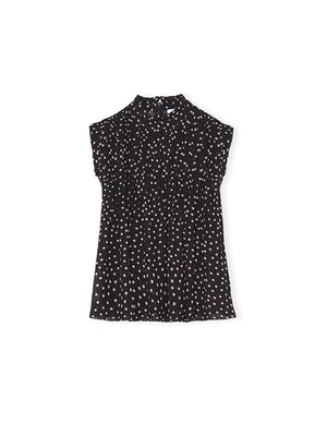 Polka Dot Georgette Top
