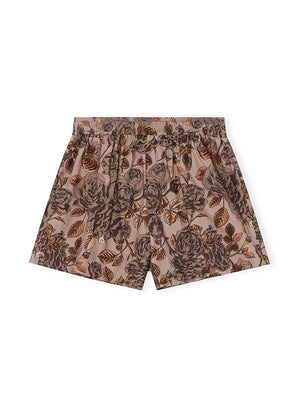Cotton Poplin Shorts in Fossil
