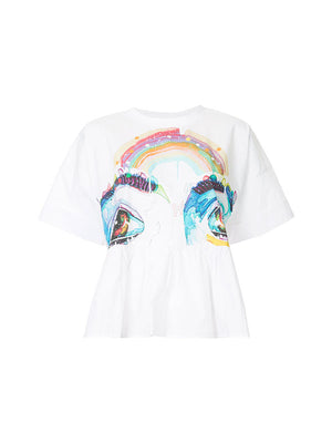 RAINBOW VISIONS FRILL TEE