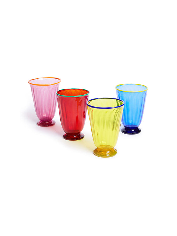 Rainbow Glasses Set of 4