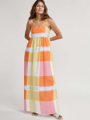 Rainbow Lorikeet Maxi Dress in Madras Check