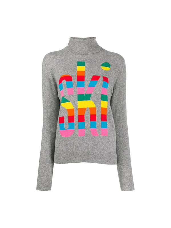 Chinti and Parker Rainbow Ski Sweater in Grey
