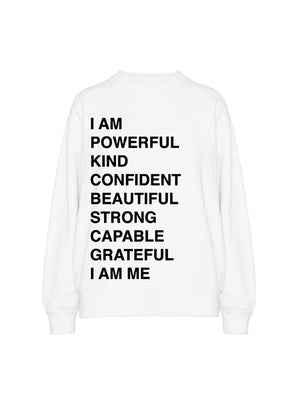 Ramona Empowerment Sweatshirt in White