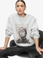 Anine Bing Ramona Sweatshirt AB x TO in Heather Grey