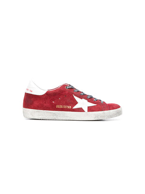 SUPERSTAR SNEAKERS RED SUEDE