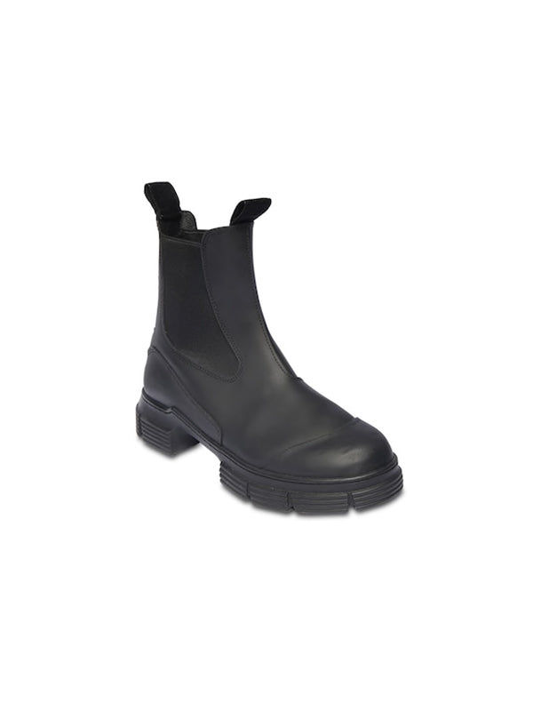 Ganni Rubber City Boot in Black