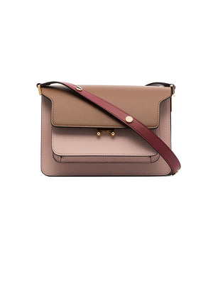 Trunk Bag in Beige and Pink