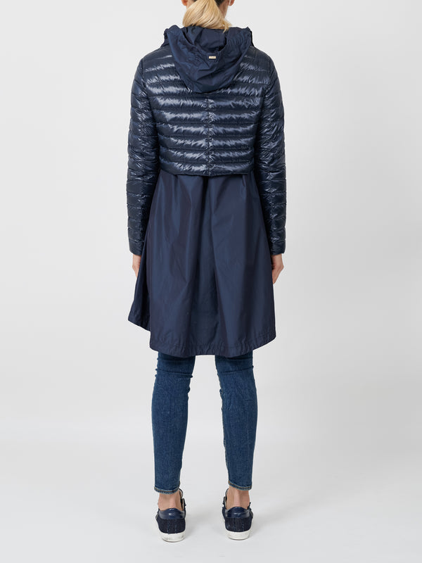 ZIPPED LAYERED JACKET IN NAVY