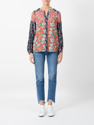 CHEVRON PIPED SHIRT IN FLORAL