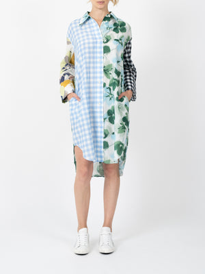 Bridgett Mixed Print Shirt Dress
