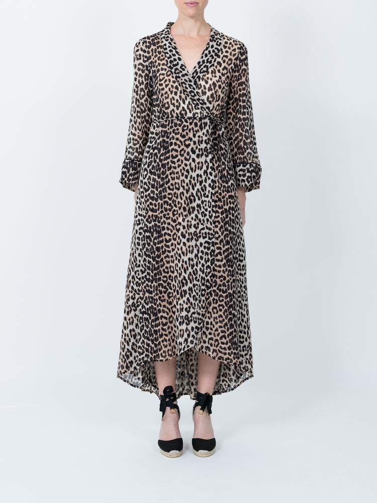 679ac0d2 Mullin Georgette Dress in Leopard – Adam Heath