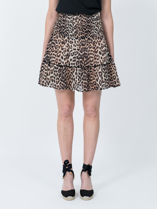 Mullin Georgette Skirt in Leopard