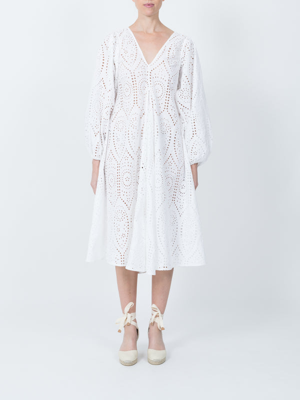 Falcon Dress in Bright White