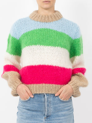 THE JULLIARD MOHAIR STRIPE PULLOVER