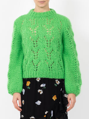 THE JULLIARD MOHAIR PULLOVER IN GREEN