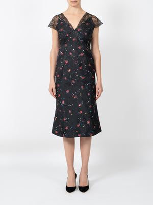 LADY BEETLE DRESS IN BLACK
