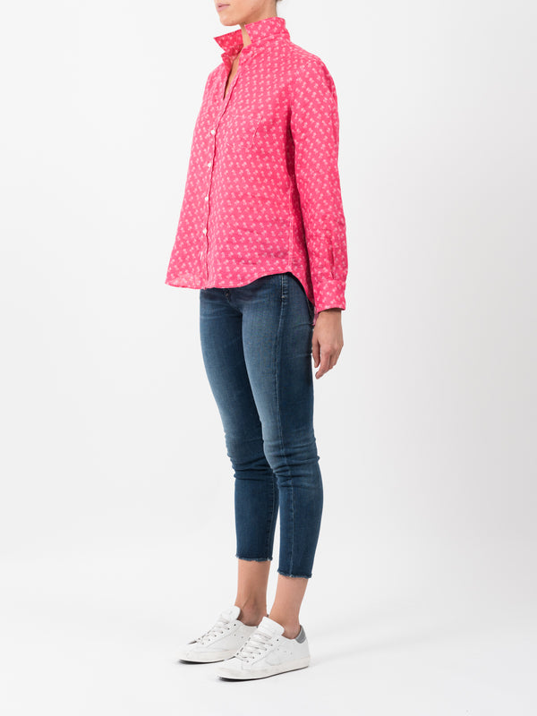 EILEEN LINEN SHIRT - STRAWBERRY PALM