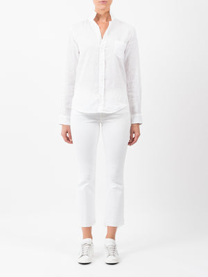 BARRY LINEN SHIRT IN WHITE