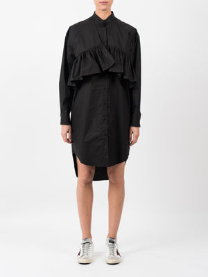 POPLIN DRESS WITH FRILL