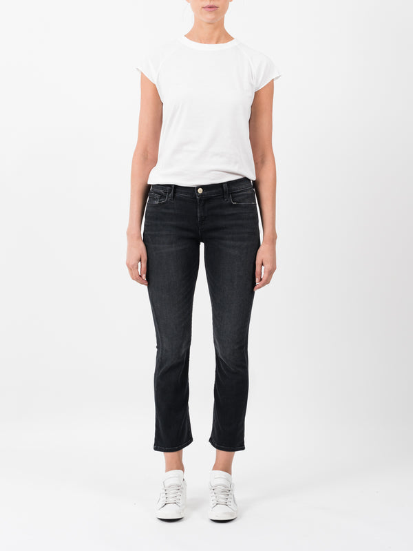 SELENA CROP BOOT CUT IN ANTHRACITE