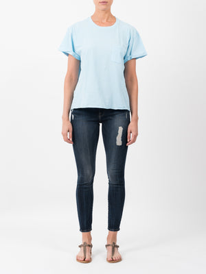 SLOUCHY CREW T-SHIRT IN BLUE