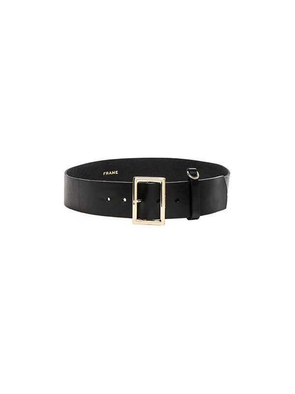 SIMPLE D-RING BELT IN BLACK