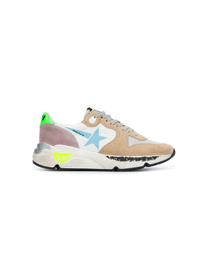 Sneakers Running Sole W/ Light Blue Star