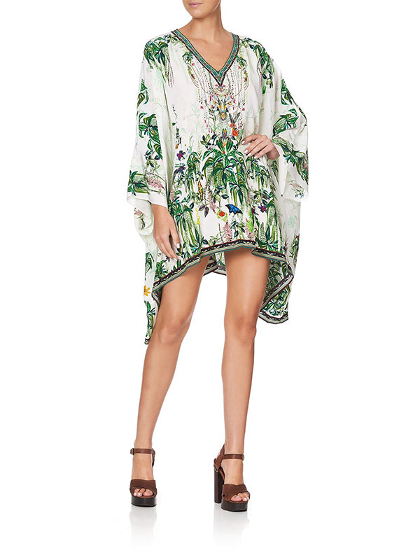 Split Shoulder Short Kaftan