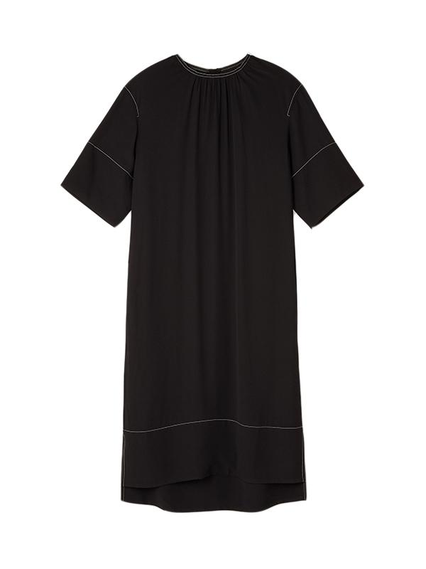Marni S/S Crepe Dress in Deep Blue
