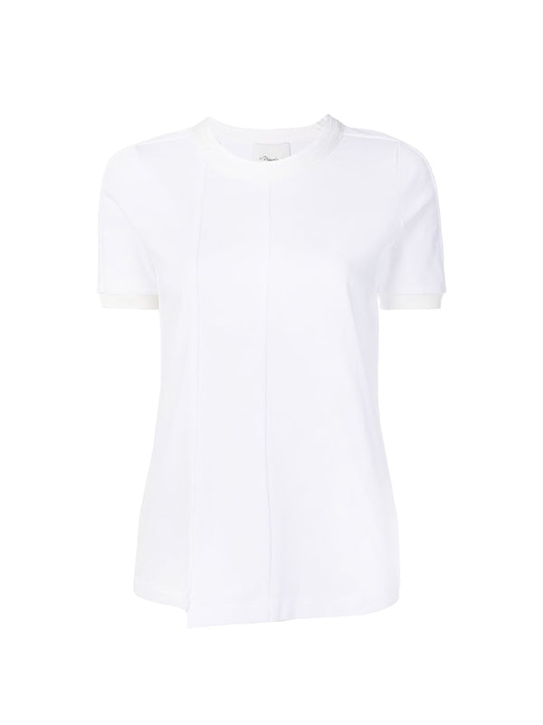 Short Sleeved Fitted T-Shirt in White