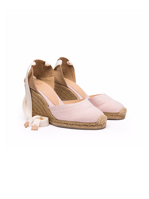 Carina 80 canvas wedge espadrilles in Rose