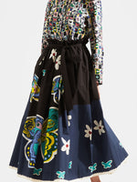 La DoubleJ Sardegna Skirt in Butterfly Nero