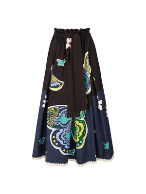 Sardegna Skirt in Butterfly Nero