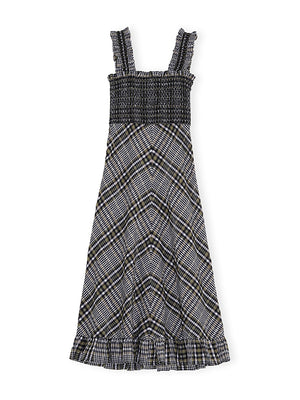 Seersucker Check Maxi Dress in Kalamata