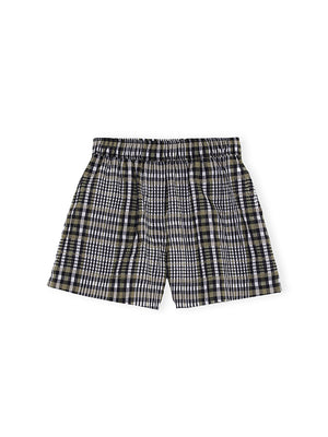 Seersucker Check Shorts in Kalamata