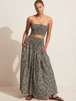 Matteau Shirred Skirt in Golden Primrose